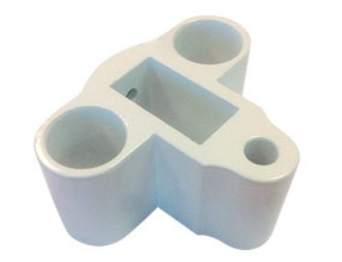 Pie Barandilla Corto Regulable Aluminio Extruido – Ref. 0657-C