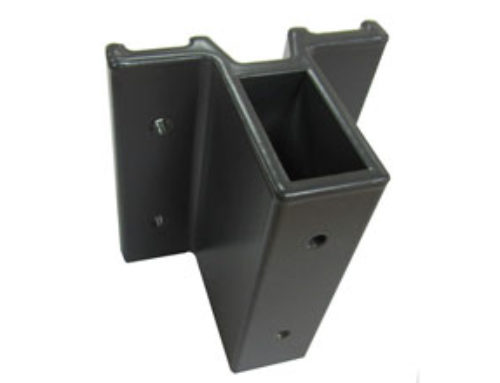 Pile Shoe for Vertical Fixing 4020 short made of Aluminium Extruded – Ref. 0673-C