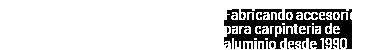 ACOFAL – Accesorios de Aluminio Logo